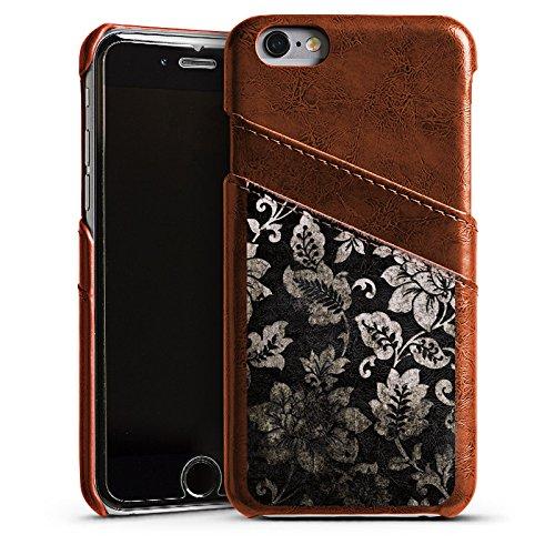 Apple iPhone 4 Housse Étui Silicone Coque Protection Ornements Motif Motif Étui en cuir marron