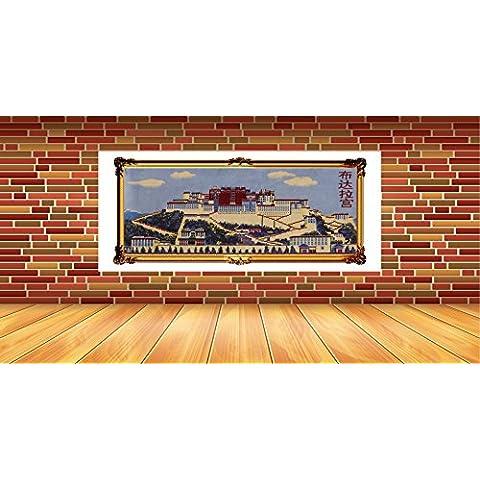 Tapiz de pared tapicería regalos Souvenirs Palacio de Potala amortiguador foto pared pegatinas nueva lana de tapices de pared , blue , cm 215*95