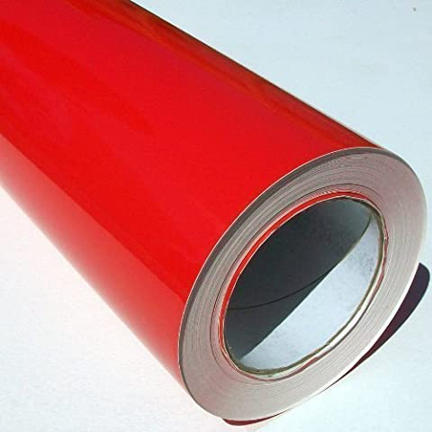 Self Adhesive Sticky Back Gloss Flame Red Sign Vinyl 5m x 61cm Roll by Metamark