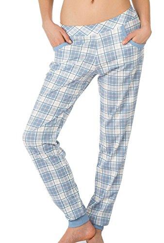Calida - Bas de pyjama - Femme rose Rosa Bleu jeans clair