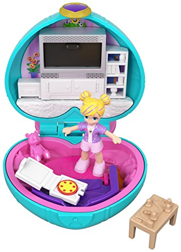 Polly Pocket Cofanetto Il Salotto di Polly, Playset con Bambola e Accessori, GCN07