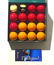 """Aramith 2"""" (50.8mm) Premier Pro Cup Addition Reds + Yellows With Striped 8 Ball Pool Balls**"""