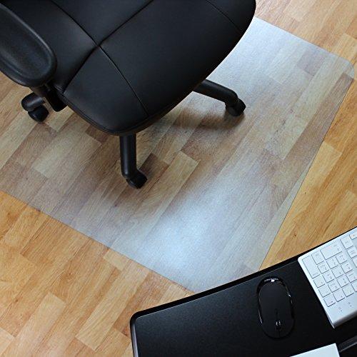 Marvelux Vinyl Bodenschutzmatte für Hartböden   phthalatfrei   200 x 120 cm   rechteckig   transparent   in verschiedenen Größen erhältlich