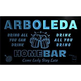 q01175-b ARBOLEDA Family Name Home Bar Beer Mug Cheers Neon Light Sign