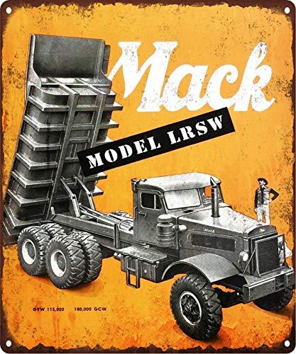 Mack Dump Truck Model LRSW Mancave Garage Shop Metal Sign 10x12 ()