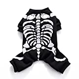 Swyivy pour animal domestique Halloween Pull Pull squelettes Impression Chien Apparel