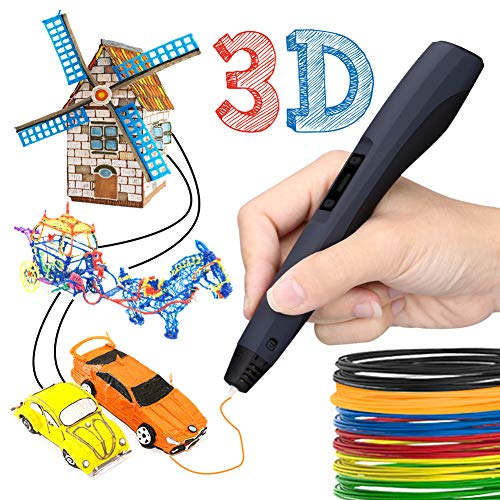 3D printing pen,3d Intelligent Pen,Pen 3D LCD 3D Printable Gift for Kids and Adults
