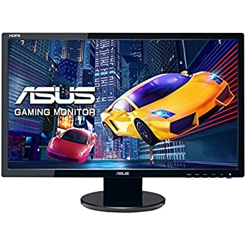 ASUS VE248HR - Monitor Gaming de 24'' (1920x1080 Full HD, 1 ms, HDMI, DVI-D, D-Sub, 250 cd/㎡, Aspecto 16:9, Altavoces), color negro