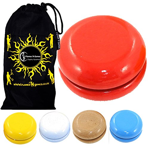 Juggle Dream Basic WOODEN Yoyo Ideal for KIDS and Beginners   Travel Bag   Wood Tan