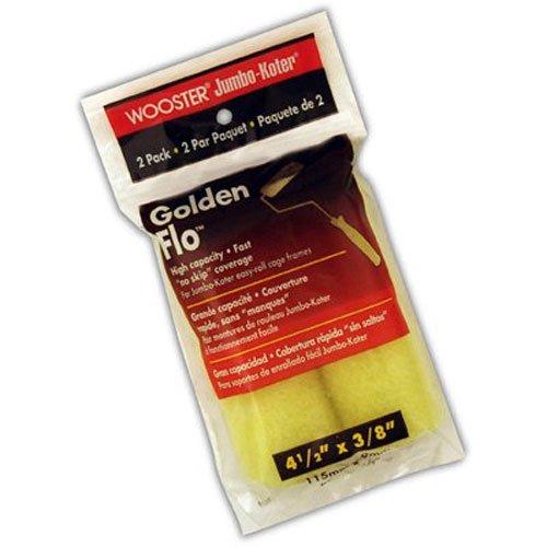 Mini Koter Roller (Wooster Pinsel rr315-4-1/2jumbo-koter Golden Flo Roller 3/8Zoll Nap, 2er Pack, 4-1/2Zoll)