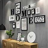 Everyday Home 9 Multi Bilderrahmen Set Schwarz Weiß RotbraunWooden DIY Foto Bilderrahmen Kombinations Treppen Malerei, 165 * 94 cm (Farbe : #B)