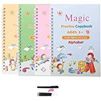 APTODEN Sank Magic Practice Copybook, Number Tracing Book for Preschoolers with Pen, Magic Calligraphy Copybook Set…