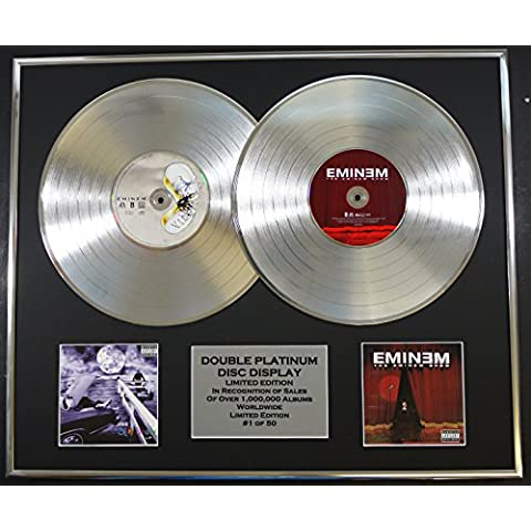 EMINEM/Cd doble Disco de Platino Record Display/Edicion LTD/Certificato di autenticità/THE SLIM SHADY LP & THE EMINEM SHOW