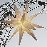 Innenräume Draußen Lichterketten Led Streifen Weihnachts Innenbe Außenbe Lauflichter Lichtschläuche Garten-Fackeln Spezial Stimmungsbeleuchtung LED alien weiß mit Silber 55-60 cm Beleuchtung Stern Weihnachtsstern Klappstern mit Glühbirne