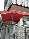 1 Stück - Balkonhalterschirmehalter - Abstands 11 cm Schirmhalter - Holly patentiert - für BEFESTIGUNG an runden oder eckigen Elementen von 0 bis 35 mm mit UNIVERSALGELENKHALTERUNG 360 ° DREHBAR MIT GUMMISCHUTZKAPPEN zur kratzfreien BEFESTIGUNG - 360 ° schwenkbarer - HALTER mit DISTANZ BUCHSEN für SCHIRM STÖCKE von 25 bis Ø 42 mm mit 13 cm tiefer AUFNAHME HÜLSE und 11 cm langer SCHWENKBARER ABSTANDS-GEWINDE-ACHSE - holly mobiler Sonnenschutz-mobile sunshade holly ® -
