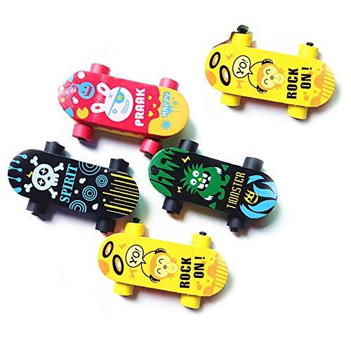 Ogquaton Kreative Nette Kawaii Skateboard Radiergummi für Kind Geschenk Neuheit Artikel Schulbedarf Brilliant Schreibwaren 5 Stücke kostengünstige