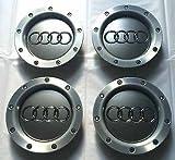 Lot de quatre roues en alliage Hub Centre de housses Badge 146mm 8d0601165K compatible avec Audi A2A3A4A6A8S3S4RS4RS6TT QUATTRO S Line S8et autres modèles