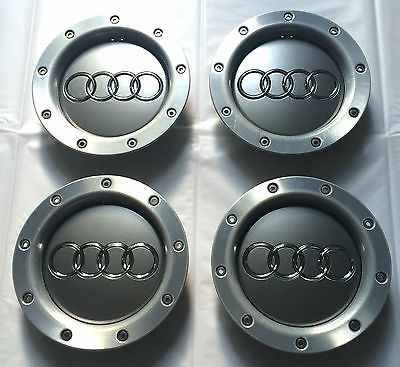 Set von vier Alufelgen Mitte Hub Radabdeckung Badge 146mm passt 8d0601165K Audi A2A3A4A6A8S3S4S8RS4RS6TT S line Quattro und weitere Modelle (Modell Audi S8)