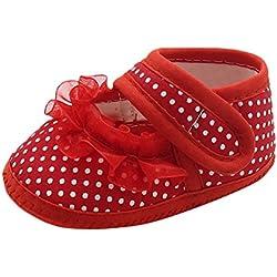 Zapatos Bebe LANSKIRT Zapatos de Lunares con Estampado de Encaje para bebé de Punto Sandalias de Fondo Suave para Bebe niño niña Primeros Pasos Calzado de Patucos Bebe Verano Zapatillas Pantuflas