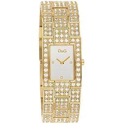 D&G DW0007 - Reloj de Señora movimiento de cuarzo con brazalete metálico plata