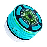 IPX7 Wasserdicht Bluetooth Lautsprecher,Expower Tragbarer Outdoor Lautsprecher mit 5W Stereo Subwoofer und Saugnapf Led Bluetooth 4.0 Mini Lautsprecher FM Radio für Badezimmer/Strände/Schwimmbäder