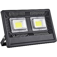 Viugreum Focos Led 100W Impermeable IP66 6500k, Reflector Lámpara para Exterior/Interior/ Jardín,Bajo Consumo 220V Blanco Frío [Clase de eficiencia energética A+++]