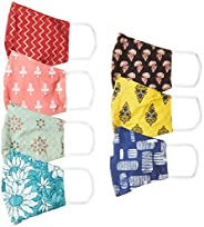 Ayukta Women's Cotton Reusable Face Mask (Pack of 7) (AYUMSK02_Multicolor_Free S
