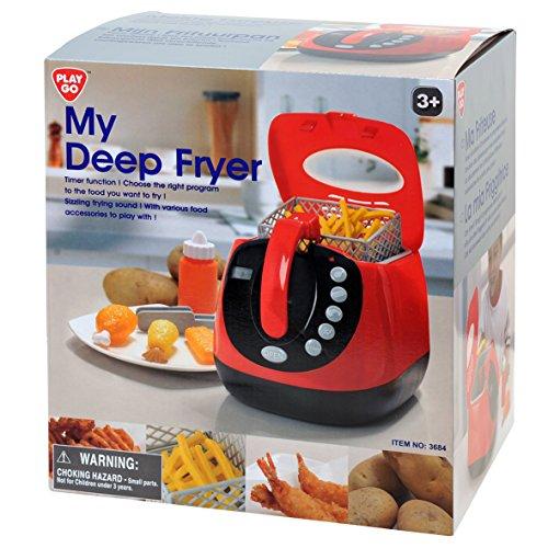 Playgo 3684 - friggitrice giocattolo, a batteria, incl. accessori