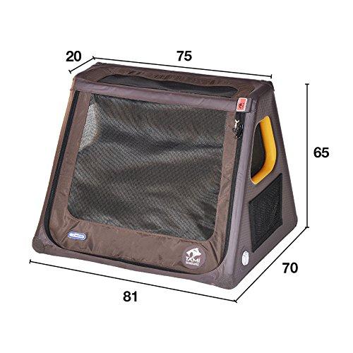 Tami - Hundetransportbox aufblasbar Tragebox Transportbox Hundebox Reisebox Autotransportbox Kofferraumbox Gitterbox Käfig Hund Box Dogbox inflatable inkl. Dog-Vital Bio-Hundekeks (Spezial Fliesheck) -