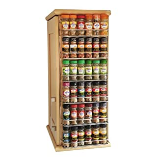 Customize Your British Spice Rack With Colour And Size To Suit Your Kitchen (4 Tier, Poppy Red) by Avonstar Trading