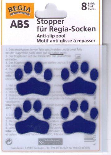 ABS Stopper zum Aufbügeln Socken Anti-Rutsch Farbe 03-blau