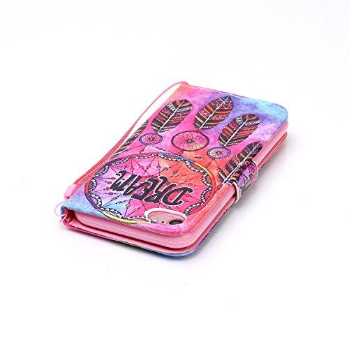 PU Cuir Coque Strass Case Etui Coque étui de portefeuille protection Coque Case Cas Cuir Swag Pour Apple iPhone 7 (4.7 pouces) +Bouchons de poussière (12II) 4