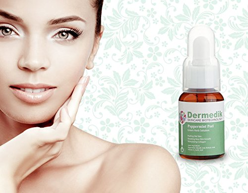 GREEN PEPPERMINT PEEL HUILE Visage Rides Scar Acne Pores 30ml