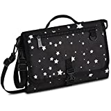 Toolik Black Nappy Clutch with Waterproof Diaper Changing Pad for Baby,Portable Changing Station