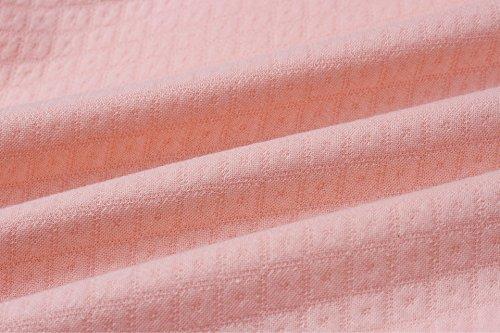 ECOWISH Damen Kontrastfarbe Pulli Pullover Rollkragen Sweatshirt Kapuzenpulli Top Hoodies Rosa M - 6