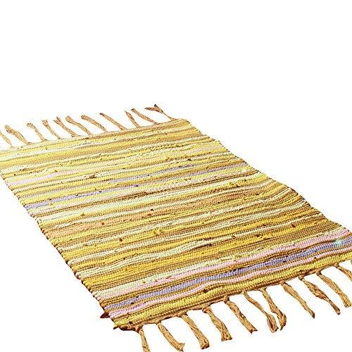 Tappeto per bagno moda tappeto in cotone mediterraneo tappeto antiscivolo per doccia tappeto multiuso rettangolare per cucina