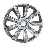 16 Zoll Radzierblenden VERON CARBON (Silber). Radkappen passend für fast alle VW Volkswagen wie z.B. Passat!