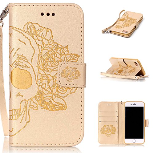 iphone-7-coque-flip-housse-wallet-protection-etui-cozy-hut-iphone-7-bookstyle-etui-rose-skull-housse