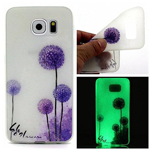 Cover Girl-auge-sticks (dstores für Samsung Galaxy S7/S7Edge Fall, Helle Glitter Case, Neu Transparent Soft TPU Silikon Flexible Schutz Back Cover Case, Galaxy S7 Edge Purple Dandelion)