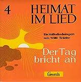 TRÄDER, WILLI / HEIMAT IM LIED # 4 / Der Tag bricht an / Ein Volksliedsingen mit Willi Träder / 1965 / Bildhülle mit ORIGINAL Innenhülle / Camerata # CM 17 074 EP / Deutsche Pressung / 7