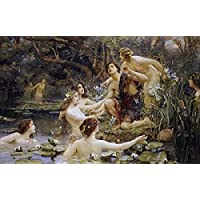 Henrietta Rae – Hylas and The Water Nymphs Fine Art Print (60.96 x 91.44 cm)