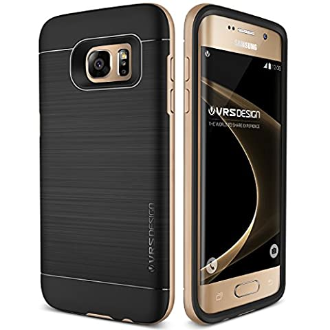 Coque Galaxy S7 Edge, VRS Design [High Pro Shield][Or] - [Housse Protection][Anti Chocs Case][Miltary Grade][Anti Scratch Etui]- pour Samsung Galaxy S7 Edge
