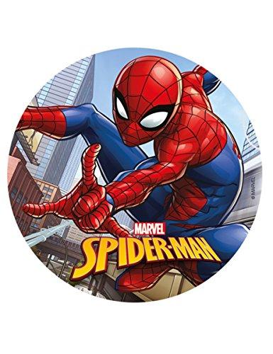 Generique - Spiderman-Tortenoblate Lizenzprodukt bunt 20 cm