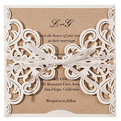 Jofanza Einladungskarten Für Hochzeit Geburtstag Taufe Party