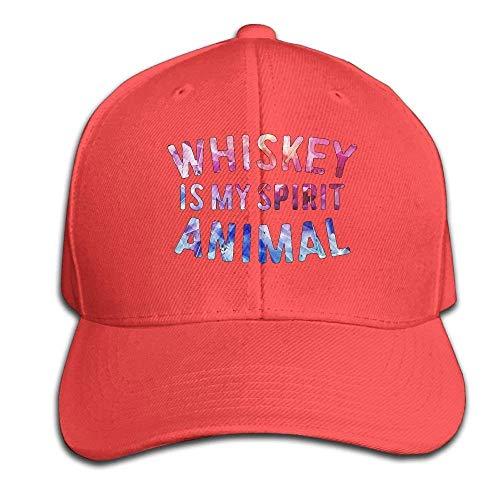 kslae Whisky ist Mein Geist-Tierlustige trinkende Hysteresen-Sandwich-Kappen-rote Baseballmütze-Hüte justierbare emporgeragte Fernlastfahrer-Kappe