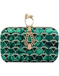 Puneet Gupta Women's Clutch (Green)