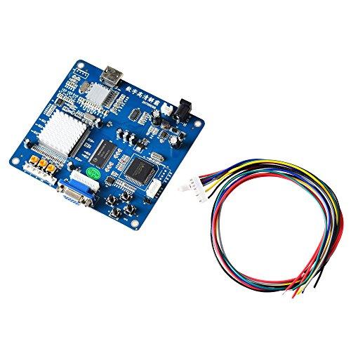 Board Of Video (Mcbazel Arcade-Spiel VGA / RBGS / RGBSHV zu HDMI Spiel Video Ausgang Konverter Board mit Kabel)