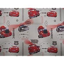 Disney Pixar Cars Cortina Novedad Niños Tela De Algodón - Vendido por la Metros - Rojo