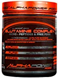 ALPHAPOWER FOOD® - ALPHAPURE® SERIES: GLUTAMINE PEPTIDES COMPLEX hochdosiert, 100% PURE MICRONIZED POWDER (1x 300g Pulver (Dose, Abbildung 1)) für 60 Anwendungen / 60 Servings, Glutamin Peptid, Glutamin Aminosäuren Pulver