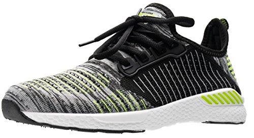 JOOMRA Herren Voll im Trend Schuhe Outdoor Fitnessschuhe unwegsames Gelände und Workout Mann Sneaker Grün, Grau, Weiß 41 EU (42 Asien)